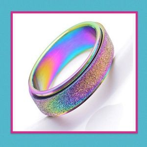 Other - Never Fade Frosted Stainless Steel Ring